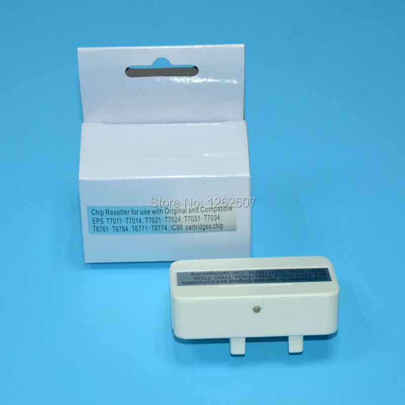 Free Shipping! T7011 T7012 T7013 T7014 Compatible chip resetter For EPSON WP 4000 WP 4015DN WP 4025DW WP 4500 Printer ink reset