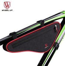WHEEL UP NEW Large Capacity Nylon Reflective MTB Road Bike Front Bag Bike Panniers Triangle Cycling Bicycle Bags Accessories