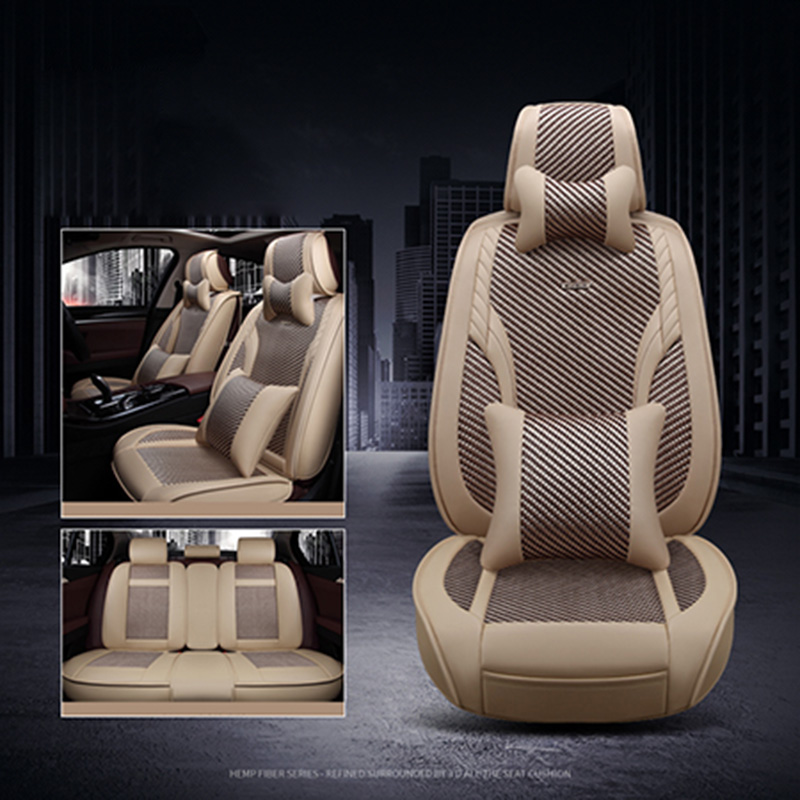 2018 New Ice Silk Car seat cover Breathable seat cushion Support Summer 5 seat Covers for Toyota rav4 prado camry corolla prius цены