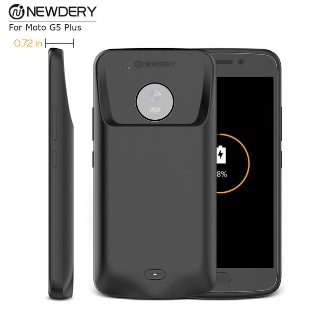 new product 4516f 7f27a US $25.75 8% OFF|Newdery Extended Backup Battery Case For Motorola G5+  Rechargeable Power Bank Case 3800mAh smart battery charger For G5 Plus-in  ...