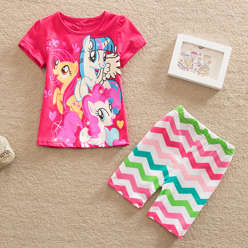 2017 Summer My Little Horse print Babys Sleepwear Girls Dillad Mae - Dillad plant