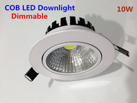 High Quality Dimmable LED COB Downlights 10W 12W Led Recessed Lights Warm White 3000K Cool Pure