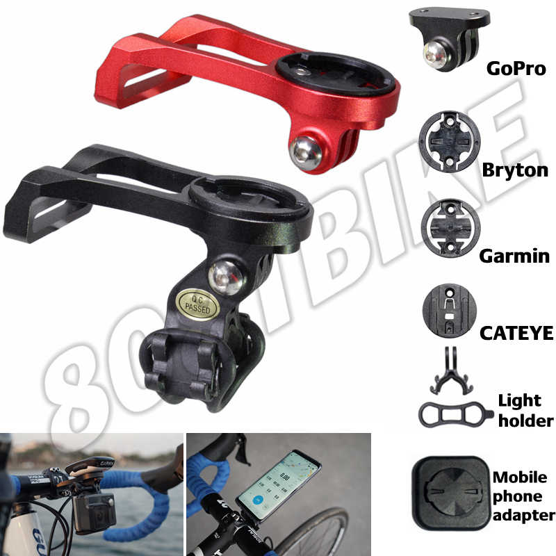 Bike Mount Out-front Handlebar Holder for Garmin Edge Bike Computer Bryton Rider