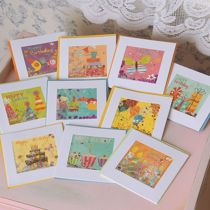 Aliexpress Buy Cute Small Birthday Cardskids Small Happy