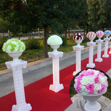 Free Shipping Road Lead Roman Column and Flowers Ball Wedding Decor Flower Wall Backdrop Table Centerpiece Hydrangea Peony Flore