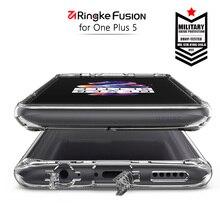 Ringke Fusion для OnePlus 5 случае ясно pc назад и мягкие Рамка Hybrid для один плюс 5 чехол с грязи устойчивы в наличии