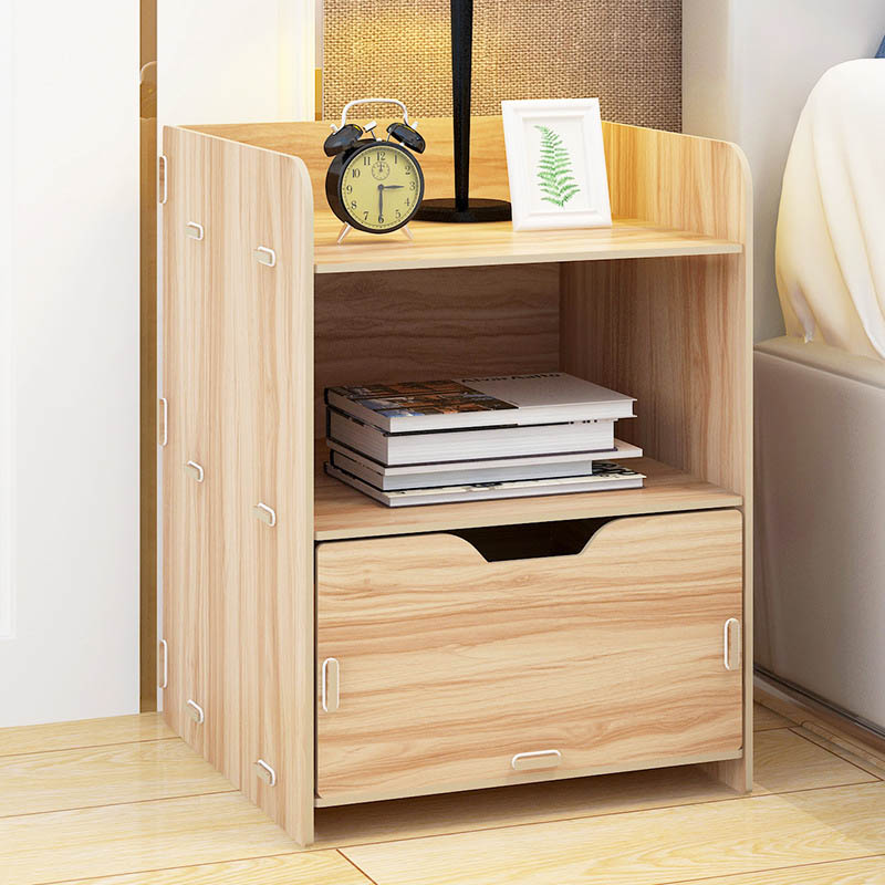 Simple Composite Press Board Nightstand Economic Type Bedroom Storage  Cabinet Small Bedside Storage Cabinet Home Furniture In Nightstands From  Furniture On ...