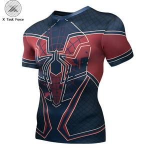 Spiderman 3D t shirts Men Compression Short Sleeve T-shirts Superhero Quick Dry Tops Bodybuilding Fitness Tshirts Tees