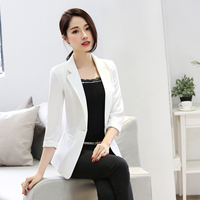 Women Blazers And Jackets 2017 Spring Autumn Cardigans Slim Fit Coats 3 4 Sleeve Suit Jacket