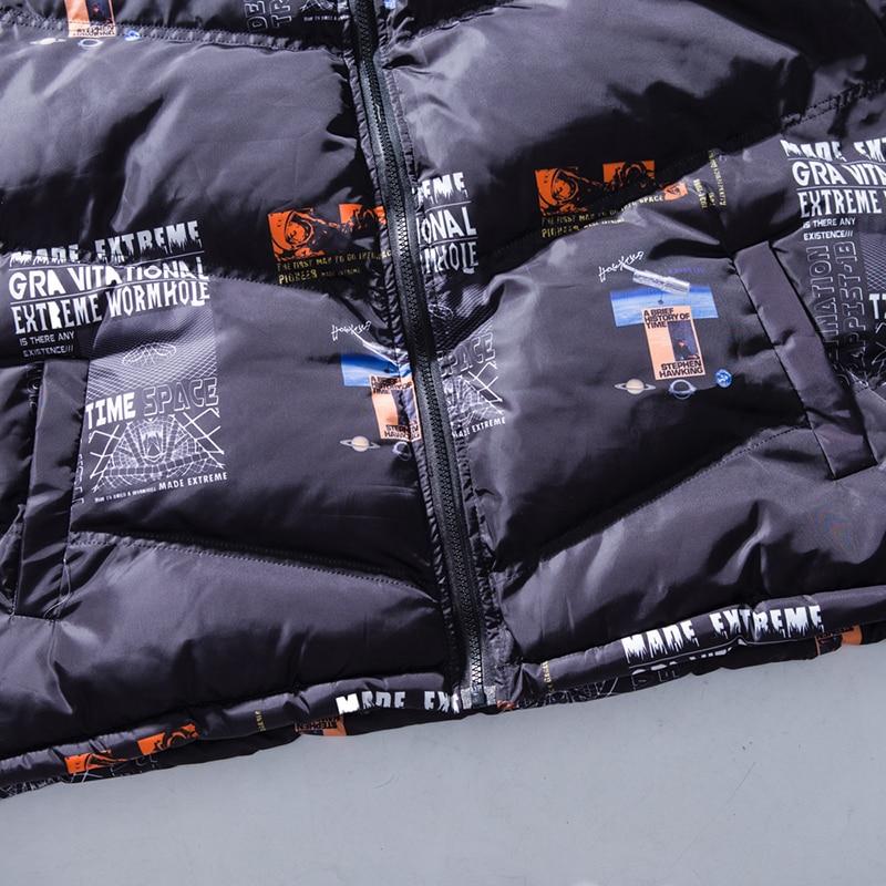 Parka Con bianco Streetwear Giacca Nero Inverno Di Stampa Cappotto Harajuku  Cappuccio In Giubbotti Lettera Il ... 4966875e370