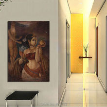 Unframed perfect 24x36inch oil painting handpainted on canvasReligious figures home decoration