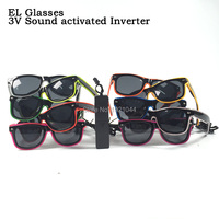 Luminous Glasses Glowing Product 10pcs EL Wire Sunglasses With Dark Lens Birthday For Party Decoration With