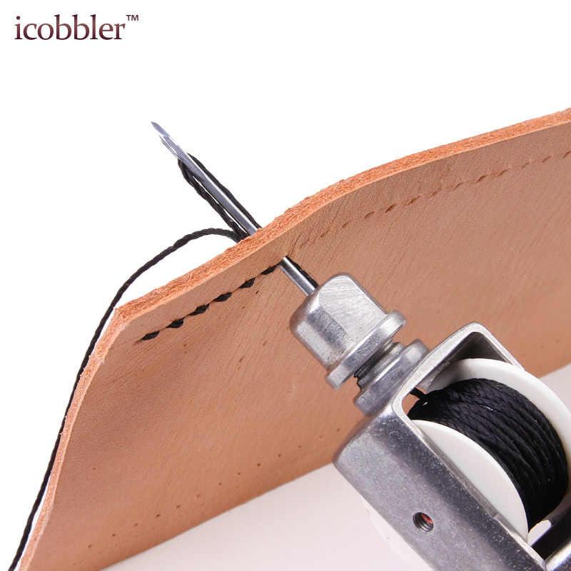 DIY Deri Dikiş Aracı Deri El DİKİŞ MAKİNESİ Mumlu Iplik Deri El Sanatları için Kenar Dikiş Kemer Şeritleri Ayakkabıcı Araçları