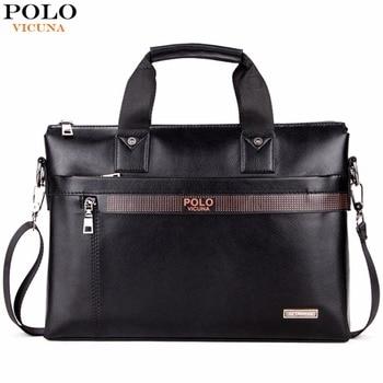 Business Men Briefcase Leather Laptop Bag