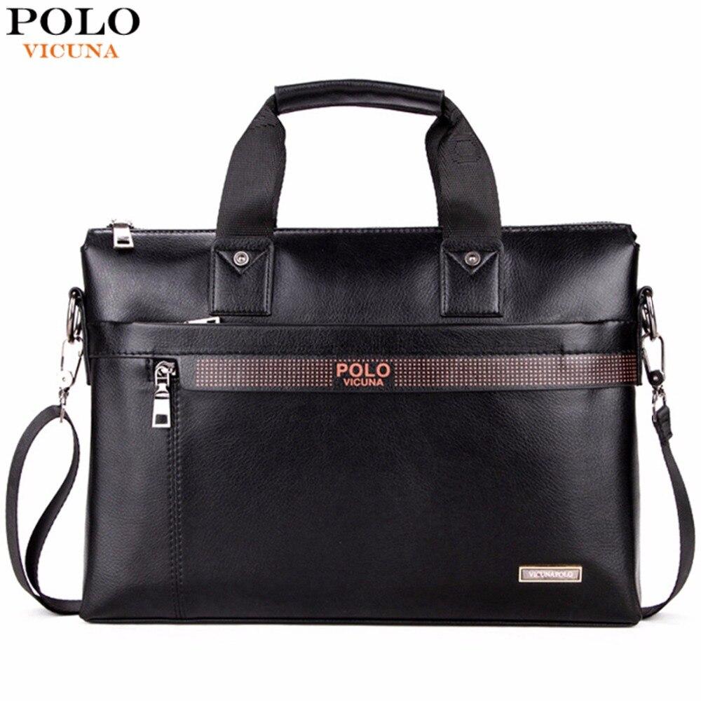 VIKUNJA POLO Top Verkauf Mode Einfache Dot Berühmte Marke Business Männer Aktentasche Tasche Leder Laptop Tasche Casual Mann Tasche Schulter taschen
