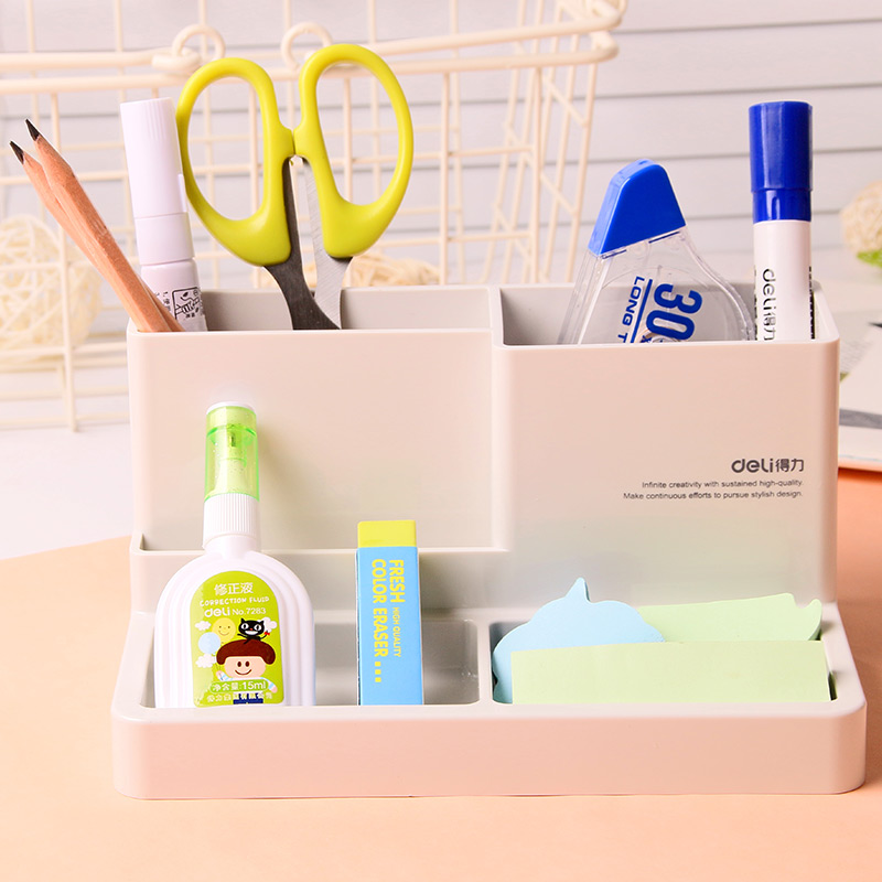 1 Pcs Fashion Multifunctional Desktop Storage Box Pen Holder Stand Pen Container Stationery Office Supplies Study Deli 9115 free shipping wood 6051 wool multifunctional pen office pen holder notes box supplies