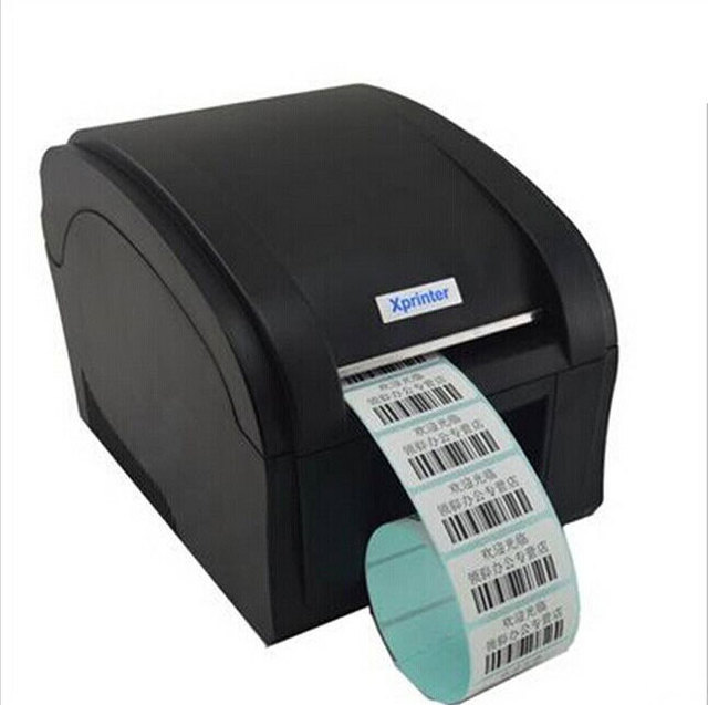 US $113 0 |XP 360B Machine Thermal Bar Code Printer Qr code sticker barcode  printer Thermal adhesive lr clothing label printer 20 82mm-in Printers