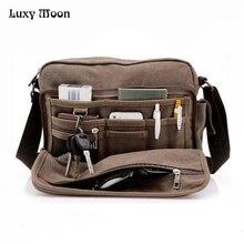 คุณภาพสูงผ้าใบเดินทางกระเป๋าผู้ชายMessengerกระเป๋าผู้ชายCrossbodyกระเป๋ากระเป๋าเอกสารสไตล์วินเทจW304