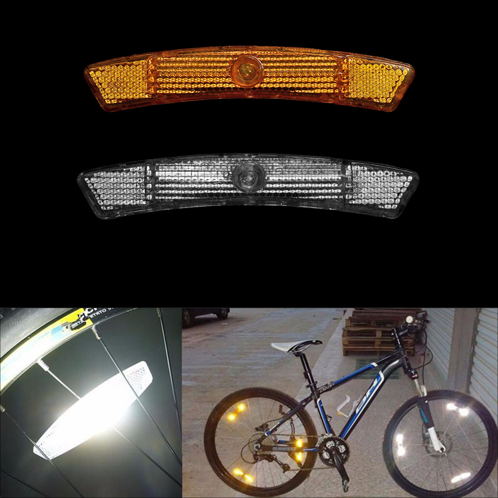 1 Pair Warning Lights Wheel Mountain Reflective Bicycle Bike Spoke Reflector ba
