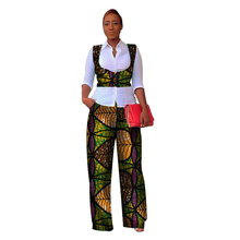 купить Hitarget autumn african clothes African Women 2 Pieces Dashiki Cotton Print Wax Crop Top and pants suit african clothes WY3053 дешево
