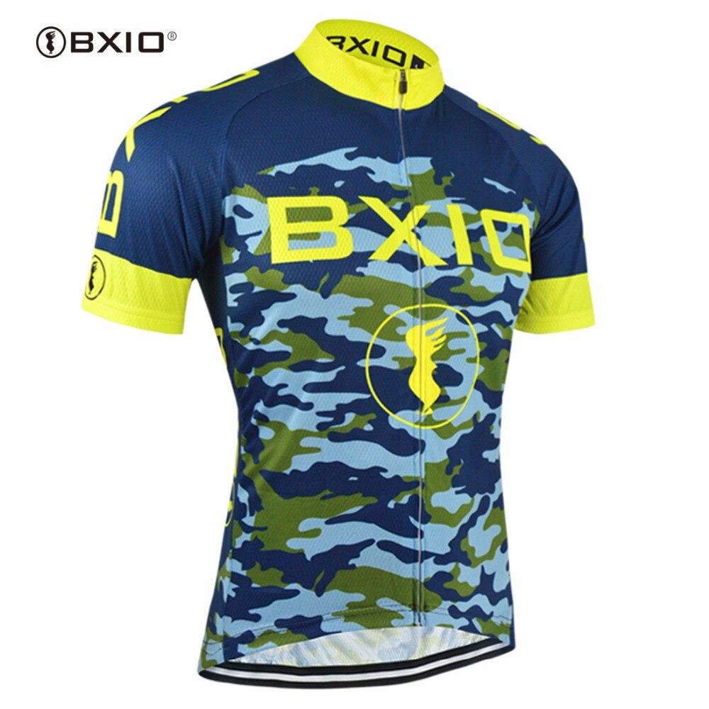 Bxio Bleu Camouflage Vélo Jersey Chemise Fraîche Maillot Cyclisme Vêtements Populaire Usage de Bicyclette VTT Vélo uniforme Hommes 052J dans Maillots de cyclisme de Sports et loisirs