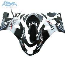 ABS kunststoff Verkleidung kits für SUZUKI 2004 2005 GSXR 600 R750 verkleidungen kit 04 05 GSXR 750 GSXR 600 K4 k5 schwarz West motor set