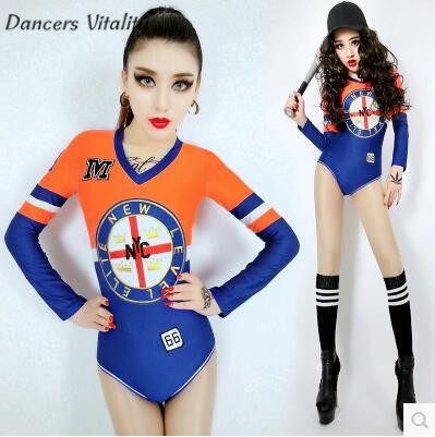 Bodysuit women Ds bar performance clothing hip-hop mesh sports winds dance dress dj stage costumes for singers sexy costumes