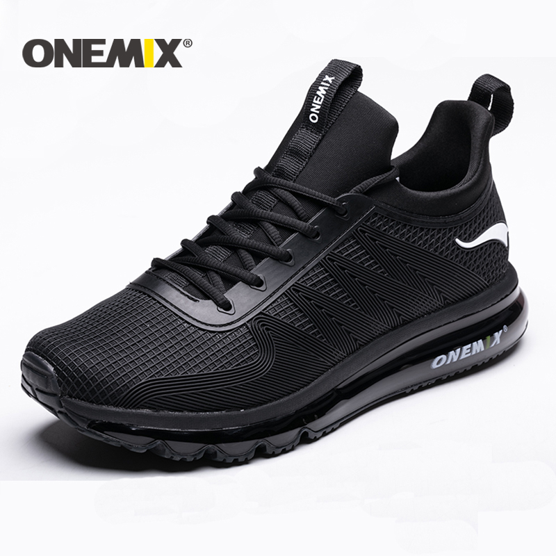ONEMIX New Running Shoes For Men Air Cushion High Top Shock Absorption Sports Sneaker Light Outdoor Walking Jogging Shoes Women