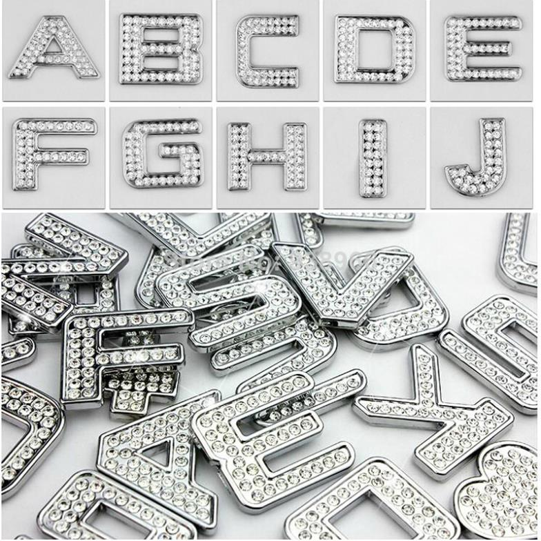DIY Car Stickers Car Rhinestone Letter Stickers Chrome Plated - Letter stickers for cars
