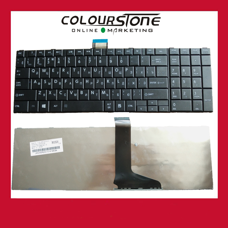 High Quality New For Toshiba Satellite C850 C850D C855D C870 C870D C875D series 5pcs/Lot Russia Black keyboard image