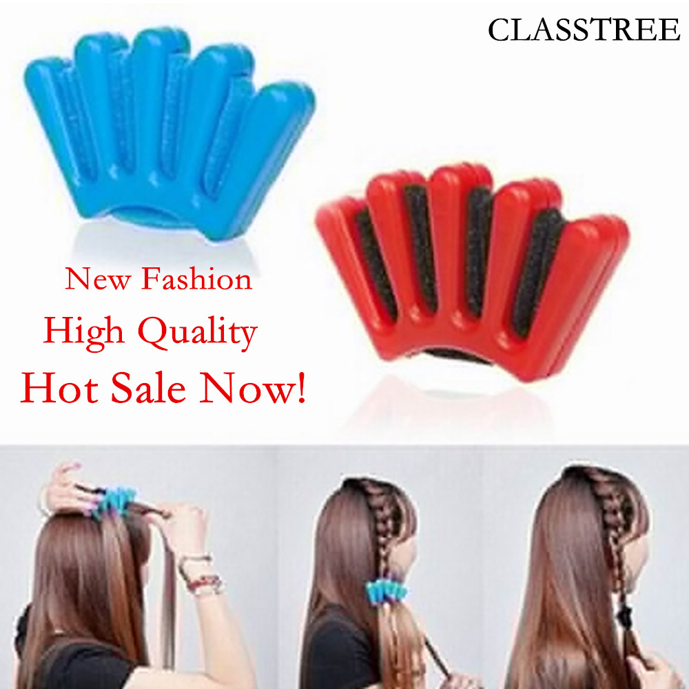 Red And Blue Lady French Hair Braiding Tool DIY Accessories Hot Sale Weave Sponge Plait Twist Hairstyling Braider