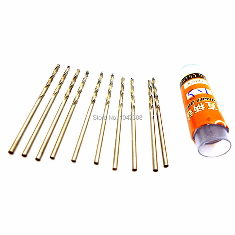 10 Uds 0,6mm/0,8mm/1mm/1,5mm/2mm brocas de acero de alta velocidad Hss Micro brocas para PCB fina lámina de hierro de aluminio