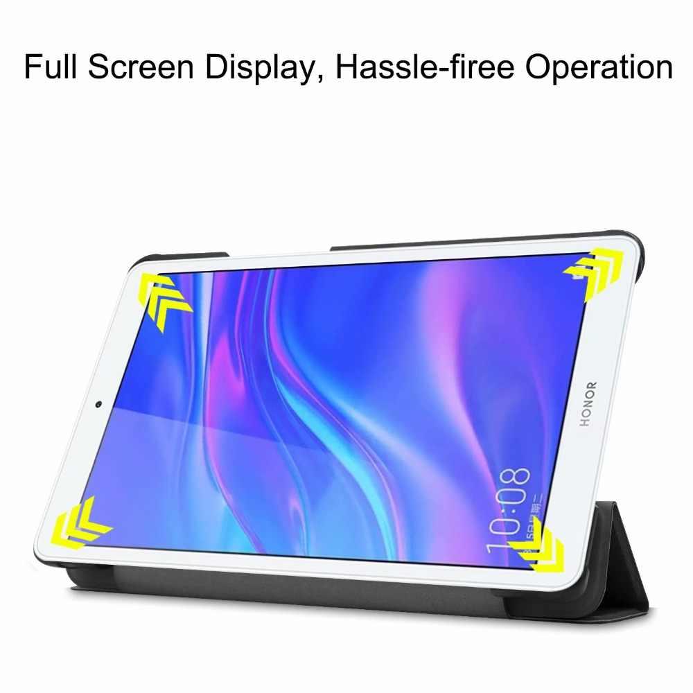 """الترا سليم حافظة لهاتف Huawei Mediapad الشرف سادة 5 اللوحي 8.0 """"غطاء لهواوي Mediapad T5 8 بوصة جراب كمبيوتر لوحي + ستايلس"""