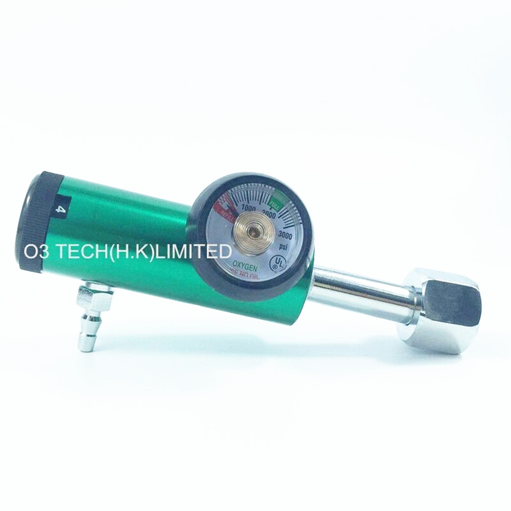 Medical Oygen cylinder flow regulator, O2 cylinder oxygen regulator CGA540 0-4LPM oxygen regulator cga540 used on medical ozone generator