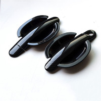 For new Santana/Polo/Suoten/Tougua Handle Cover carbon fibre Trim Set and wrist of door bowl Accessories Stickers Car Styling