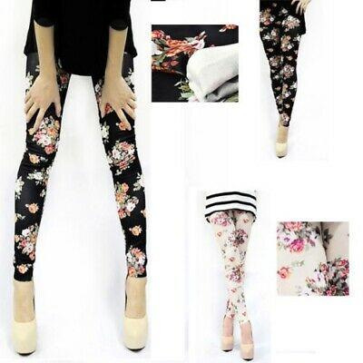 Fashion Women Roses Floral Soft Pants Workout   Leggings   Floral Print Women Trousers Push Up Pants   leggings