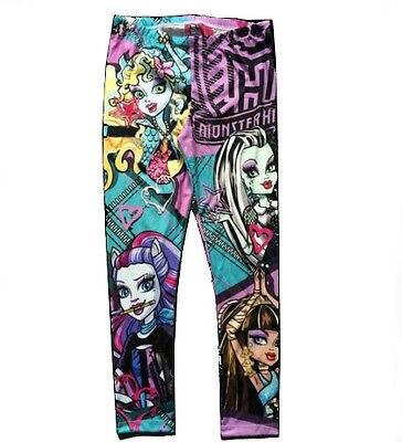 New Halloween Monster High Cartoon Printed Children Kids Girls Pants Leggings Multan