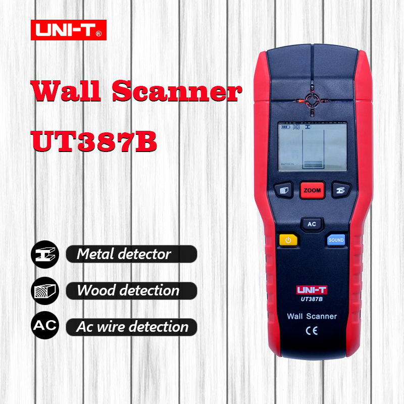 UNI-T UT387B Wall Detector Multifunctional Handheld Wall Tester Metal Wood AC Cable Finder Wall ScannersUNI-T UT387B Wall Detector Multifunctional Handheld Wall Tester Metal Wood AC Cable Finder Wall Scanners