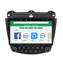 ChoGath Android 7,0 gps навигации 10,2 дюймов для Honda Accord 7 2003-2007 автомагнитолы с 1080 P видео поддержка bluetooth SWC