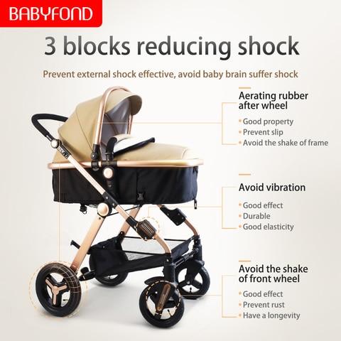carrinho de crianca sentar reclinaveis dobravel paisagem pode