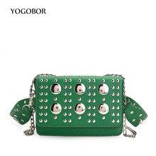 YOGOBOR Mini PU Leather Women Crossbody Bags Rivet Fashion Shoulder Bag Designer Famous Brand Handbag Ladies Messenger Bags 2017