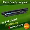 Frete grátis 4WY7C 68DTP 312-1392 49VTP 24DRM 0MF69 Bateria do laptop Original para dell 17 3721 14r 15r 5521 15 3521 5421 14 3421