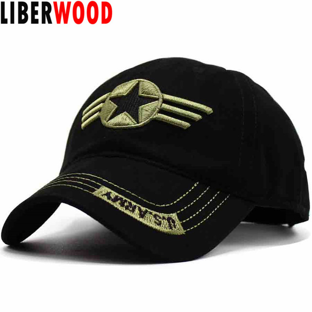 c608cfeaa36 LIBERWOOD United States US ARMY HAT Embroidered army Cap Air Force Tactical Hat  adjustable Brand baseball cap men Camouflage