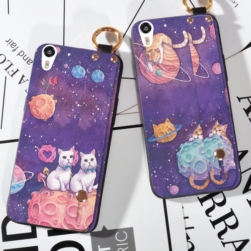Cartoon Starry Sky Stand Cases For HTC Desire Eye 820 825 Wrist Strap Ring Cover Capa  For HTC desire 10 lifestyle Holder Case