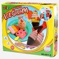 Crianças playdough sorvete crianças brinquedos educativos ultraleve polymer clay moldes ferramentas kit