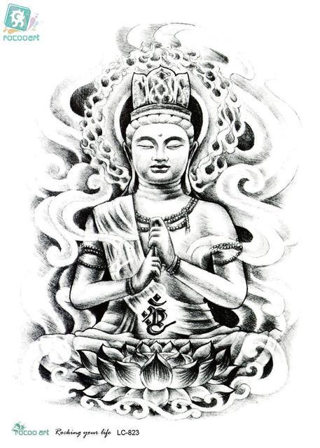 rocooart lc2823 21*15 cm grote grote tatoo sticker schets figuur van