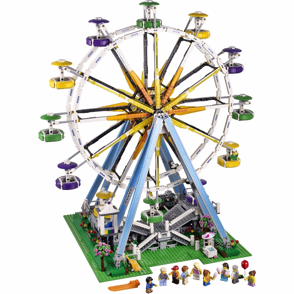 Lepin 15012 Ferris Wheel Truck building bricks blocks Toy Boy Game Model Car Gift Compatible with Bela 10247 lepin 22001 imperial flagship building bricks blocks toys for children boys game model car gift compatible with bela decool10210