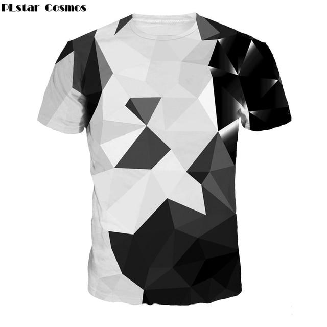 337c905ab32 PLstar Cosmos Geometry T-shirts 2018 summer Fashion t-shirt artist Print Tee  shirts