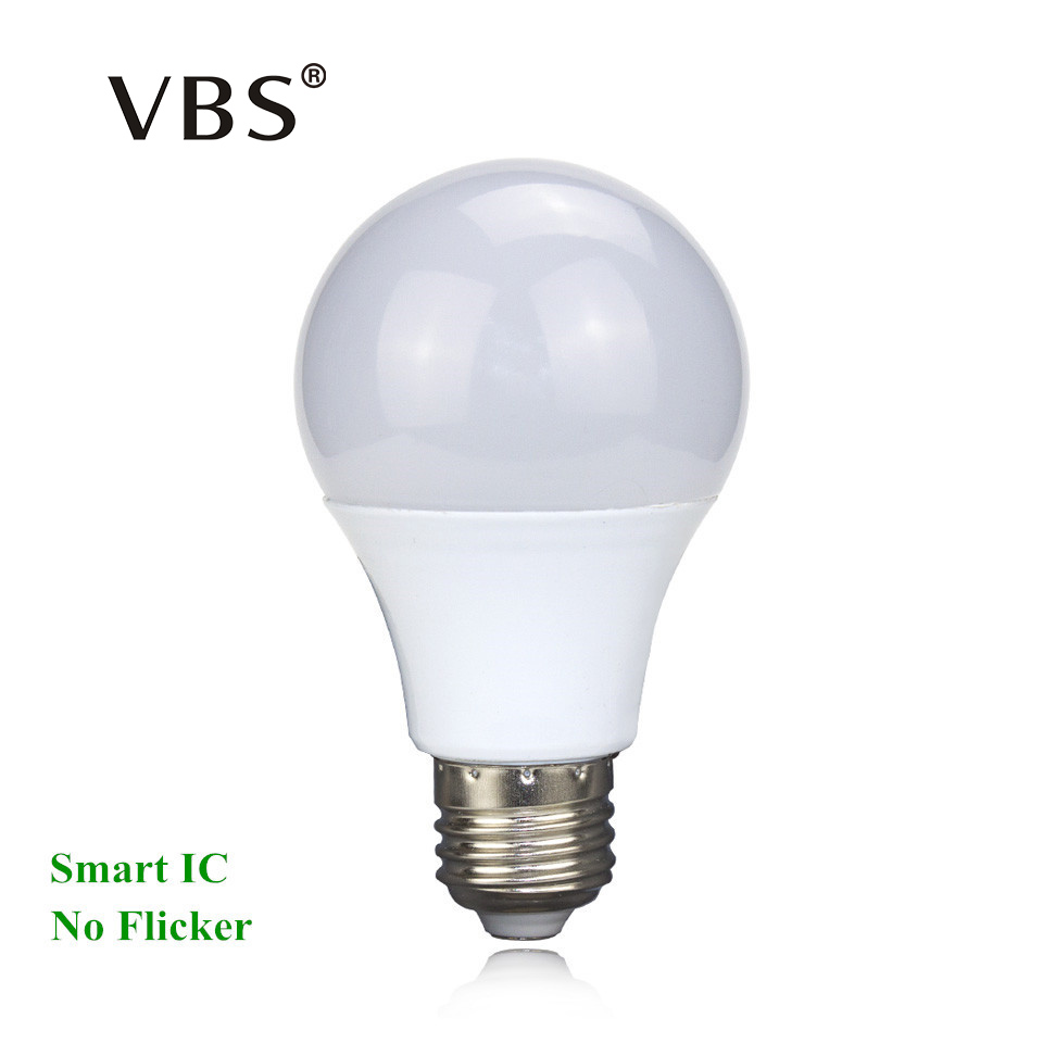 LED Bulb E27 3W 5W 7W 9W 12W 15W Real Power 220V Energy Saving LED lamp Aluminium 2835SMD LED Spotlight Bulb Smart IC No Flicker