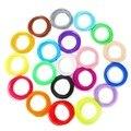 100 метров 20 видов цветов 1 75 мм PLA нити материалы 50 м 10 цветов для 3D печати Ручки Принтера нити пластиковые расходные материалы для рисования